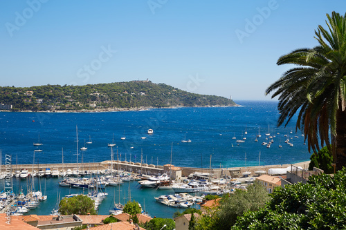 Fotobehang Liguria Cap Ferrat and sea view in a sunny summer day, french riviera