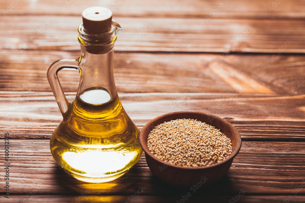Fototapeta The Sesame oil