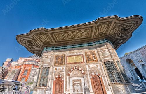 Photo  The Fountain of Sultan Ahmed III near Hagia Sophia, Istanbul.