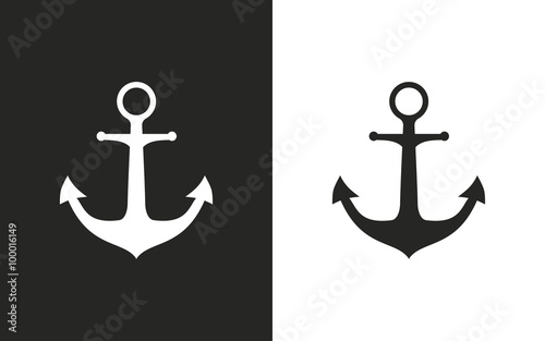 Fotografiet Anchor - vector icon.