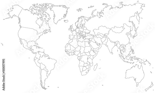 Photo Stands World Map Weltkarte - in Grenzen