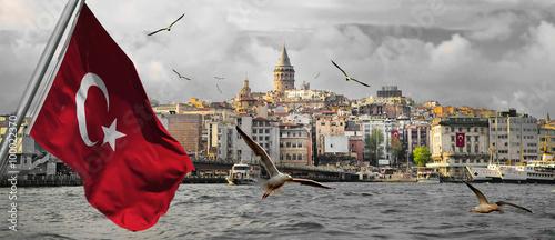 Plakat Stambuł - stolica Turcji, wschodnie miasto turystyczne.