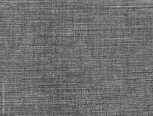 Foto op Canvas Stof Dark gray fabric pattern, background texture