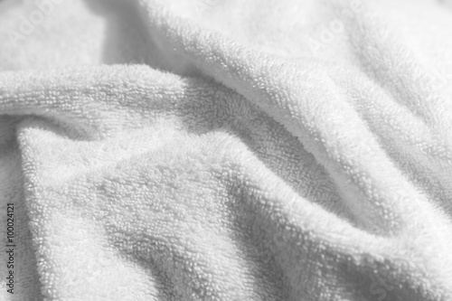 White natural cotton towel  background photo Tapéta, Fotótapéta