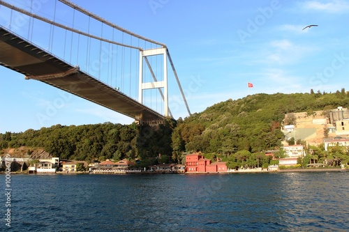 Bosphorus Bridge in istanbul Turkey. Poster