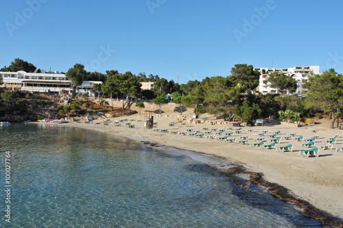 Aluminium Prints Beach Cala Portinatx beach in Ibiza Island, Spain