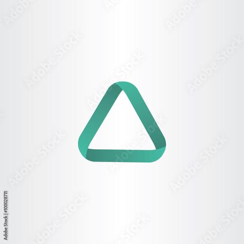 Fotografie, Obraz  green triangle logo frame vector icon