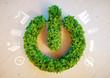 Leinwandbild Motiv Clean green eco energy concept