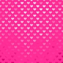 Metallic Pink Hearts Polka Dot Pattern Hearts