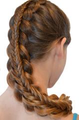 Fototapeta Do fryzjera Прическа с длинных волос