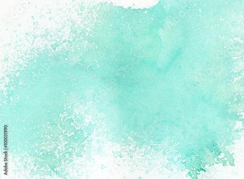 Zdjęcie XXL Lekki abstrakcjonistyczny błękit malujący akwareli pluśnięć tło
