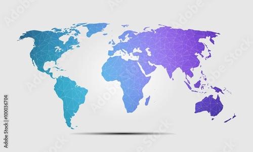 High quality world map polygon background vector illustration buy high quality world map polygon background vector illustration gumiabroncs Images