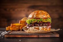 Home Made Hamburger With Lettu...