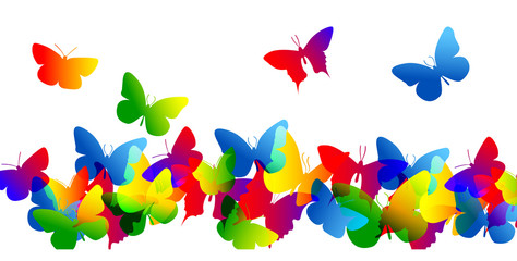 Fototapetafarfalle, silhouette, sagome, volare, leggerezza, volo