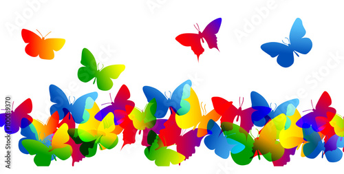 farfalle, silhouette, sagome, volare, leggerezza, volo - 100039370
