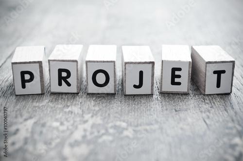 Fotografie, Obraz  concept mot formé avec des lettres en bois - Projet