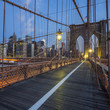 View on Brooklyn Bridge by night
