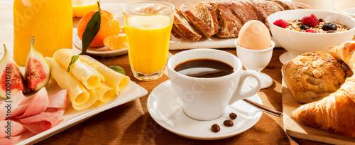 Fototapeta Full breakfast on table obraz