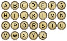 ALphabet In Typewriter Keys