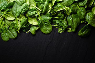 Fototapeta Do baru Fresh spinach background