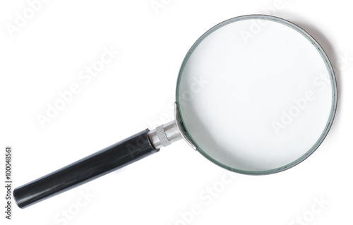 Fotografie, Tablou  Magnifier or Magnifying glass isolated on white background.