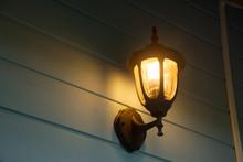 Warm Light Of External Lamps O...