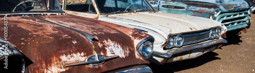 In de dag Route 66 Old west car
