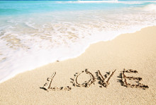 Love Inscribed In The Sand Of ...