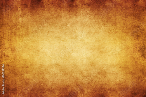 Yellow Brown Parchment Paper Textured Background