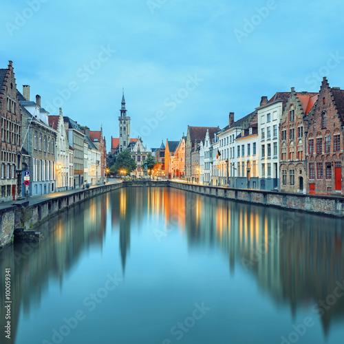 Wall Murals Bridges Jan van Eyck Square over the waters Bruges