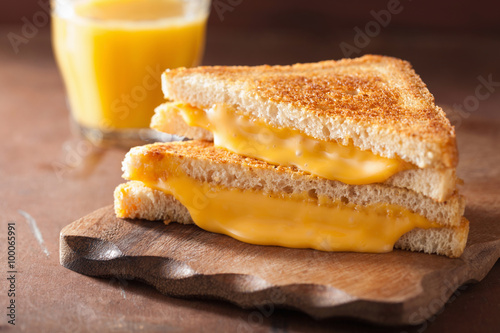 Staande foto Snack homemade grilled cheese sandwich for breakfast
