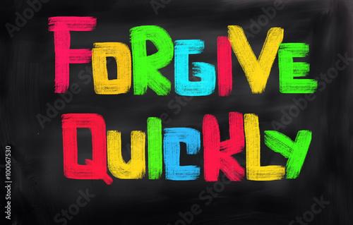 Fotografía  Forgive Quickly Concept