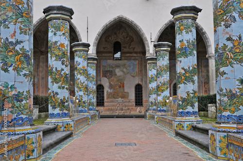 Fotobehang Napels Napoli, il Chiostro di Santa Chiara - Spaccanapoli