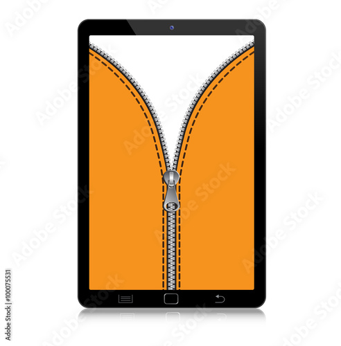 Fotografie, Obraz  Tablet con cerniera