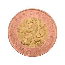 Czech Crown Coin, 50 CZK, Fifty Crowns