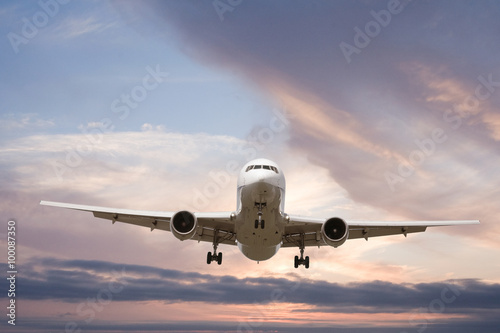 Tuinposter Vliegtuig 旅客機