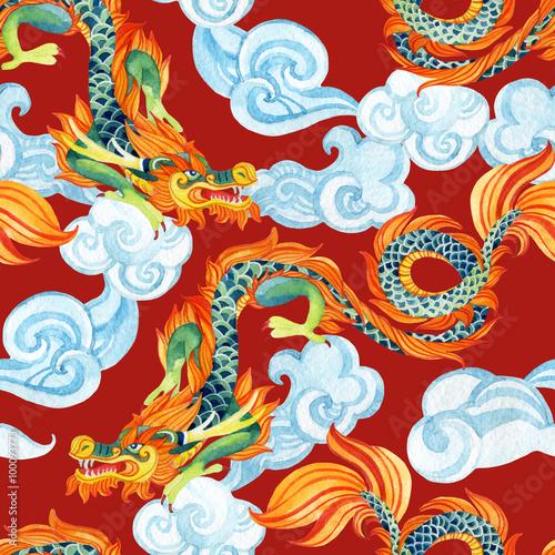 chinski-smok-wzor-ilustracja-azjatyckiego