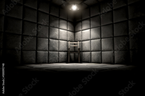 Padded Cell And Empty Chair Wallpaper Mural