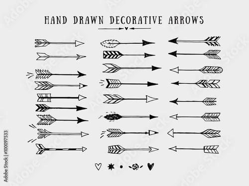 Photo Vector vintage decorative arrows set