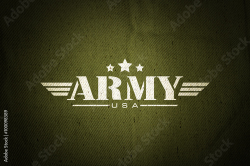Photo Military army star silk old fabric texture background