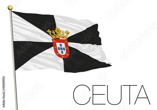 Ceuta regional flag, autonomus community, spain