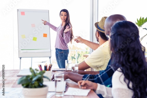 Fotografie, Obraz  Businesswoman giving presentation to coworkers