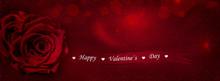Rote Rose Mit Geschenkband Tex...