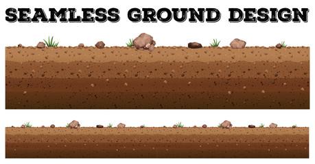 Seamless ground surface design
