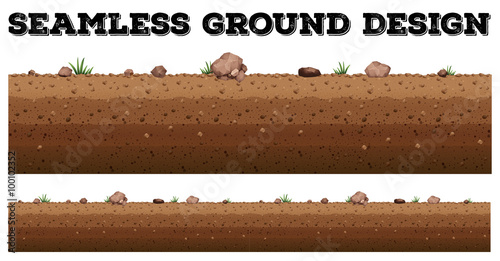 Seamless ground surface design Fototapeta