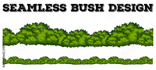 Foto Seamless green bush design