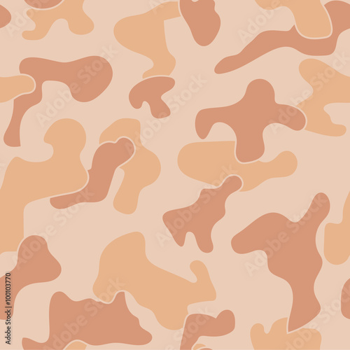 Poster  Military Camouflage Textile Pattern