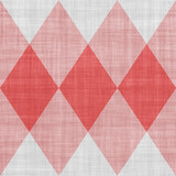Seamless red and white geometric texture - 100106175