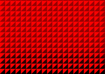 Red triangle polygon seamless pattern background. Endless texture. Pattern swatches included in file.