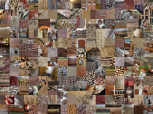 BROWN Patchwork Photomontage Background